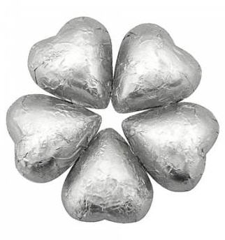 Chocolate Hearts -Silver (Milk)