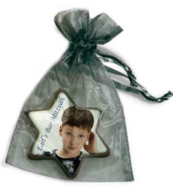 Chocolate Image Star in Organza Bag