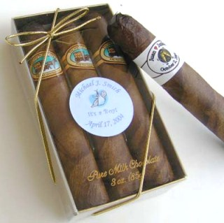 Royal Chocolate Cigars Round - Gift Box of 3