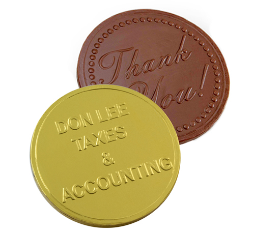 Large Chocolate Coins - Personalized