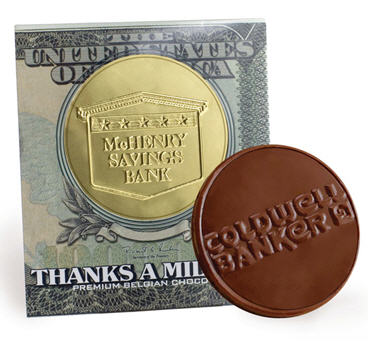 Large Chocolate Coin w/Themed Sleeve
