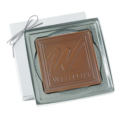 2.5 oz. Custom Chocolate Cutout Shape Square