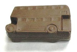 Chocolate Double Decker Bus 3D