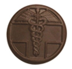 Chocolate Medical Symbol Round