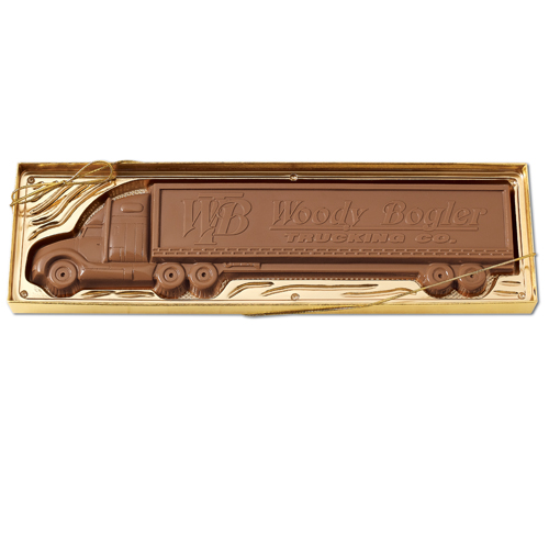 1 lb Custom Chocolate Tractor Trailer Truck