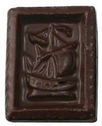 Chocolate Stamp Sailboat