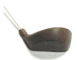Chocolate Golf Club Head Wood