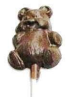 Chocolate Teddy Bear on a Stick Fat - Click Image to Close