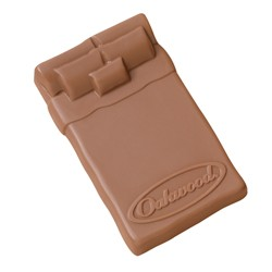 2.5 oz Custom Chocolate Bed or Matress - Click Image to Close