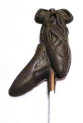 Chocolate Ballet Slipper Pair on a Stick