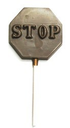 Chocolate Stop Sign on a Stick