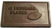 #1 Football Player Chocolate Business Card