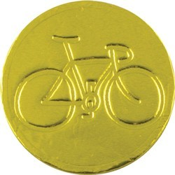 Bicycle Chocolate Coin - Click Image to Close