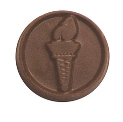 Chocolate Olympic Torch Round