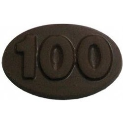 Chocolate 100th Oval