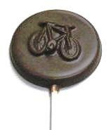 Chocolate Bicycle Round on a Stick