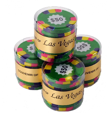 9-pc Chocolate Casino Chip Tube