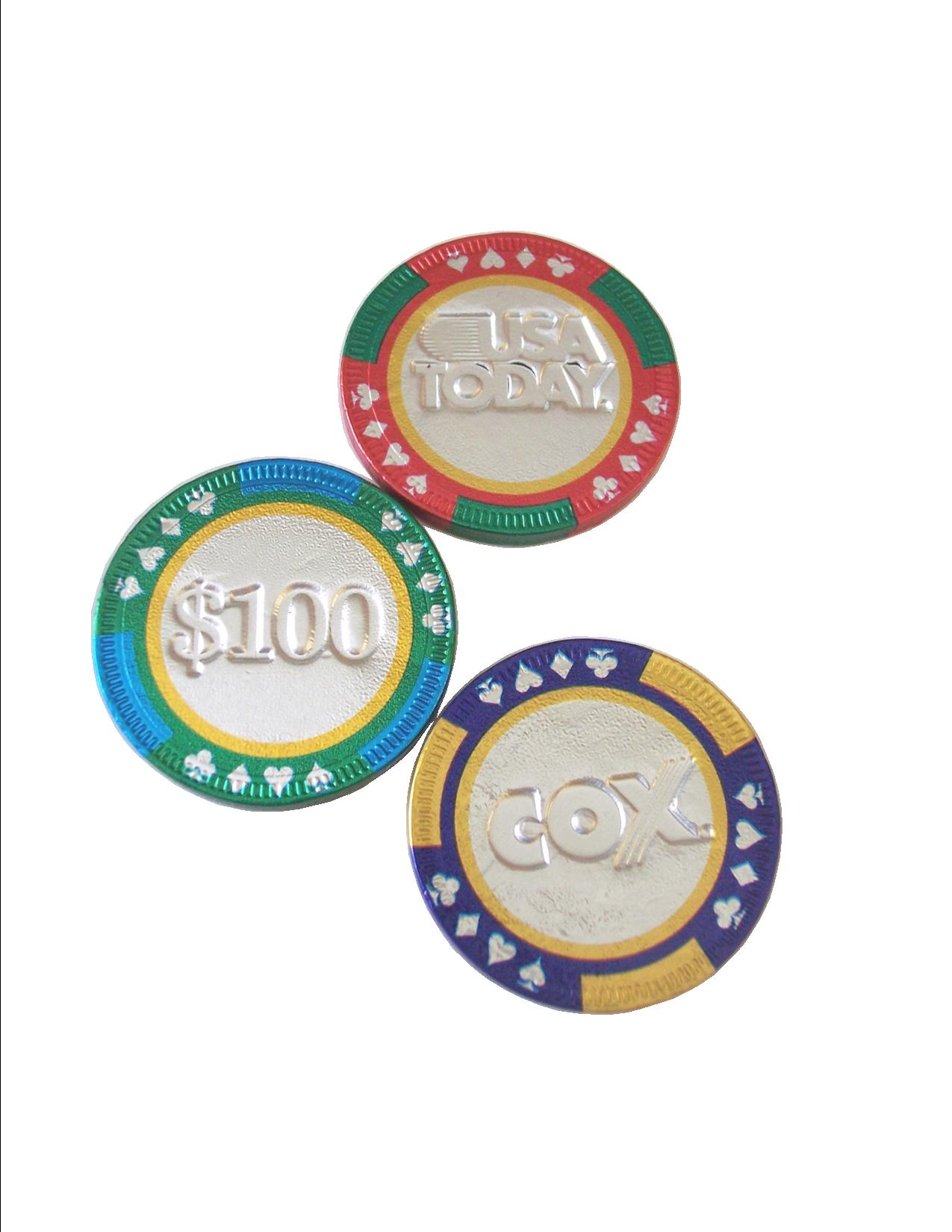 Chocolate Casino Chips - Personalized