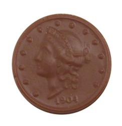 Chocolate Lady Liberty Coin Head - Click Image to Close