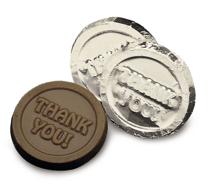 "Silver ""Thank you"" Coin(Case of 50 Bars)"