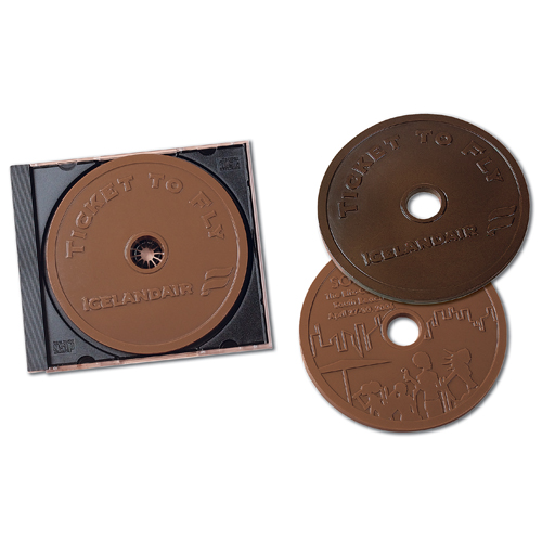 2 oz Custom Chocolate Compact Disk, CD or DVD