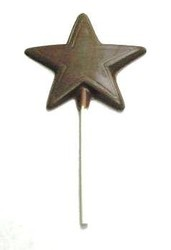 Chocolate Star on a Stick Flat w/ Outline