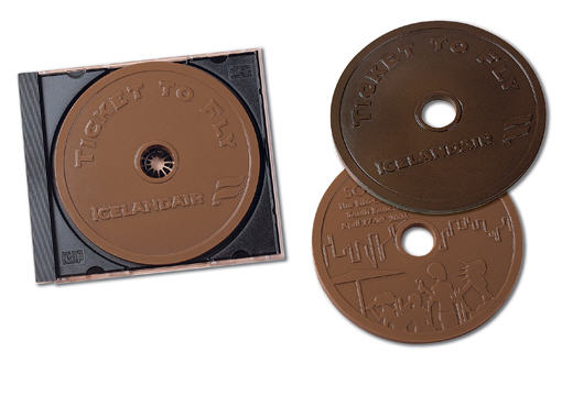 Chocolate CDs w/ Custom Chocolate