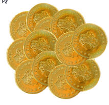 Chocolate Coins - Gold (Box of 400)