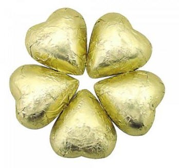 Chocolate Hearts - Gold (Milk)