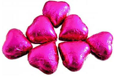Chocolate Hearts - Hot Pink (Dark)