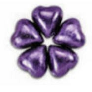 Chocolate Hearts -Purple (White) - Click Image to Close