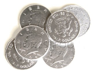 Chocolate Coins - Silver (Box of 240)