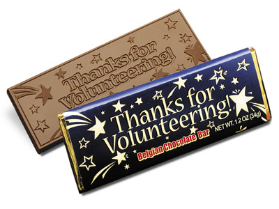 Thanks for Volunteering(Case of 50 Bars) - Click Image to Close