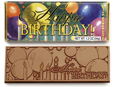 Happy Birthday (Case of 50 Bars) - Click Image to Close