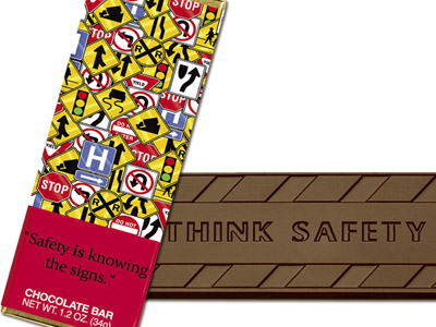 Safety is knowing the signs(Case of 50 Bars) - Click Image to Close