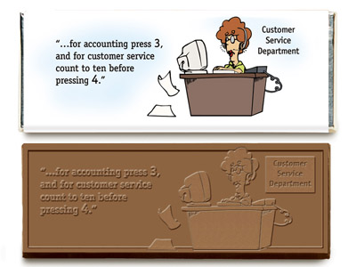 Customer Service Bar(Case of 50 Bars) - Click Image to Close