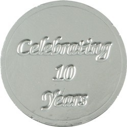 Celebrating 10 Years Chocolate Coin
