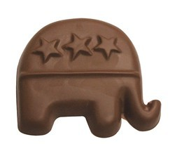 Chocolate Republican Party Elephant Large