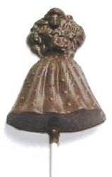 Chocolate Doll on a Stick Fancy Dotted Skirt