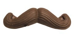 Chocolate Moustache on a Stick Curved Ends