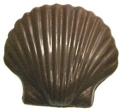 Chocolate Clam Shell w/Ripples Large - Click Image to Close