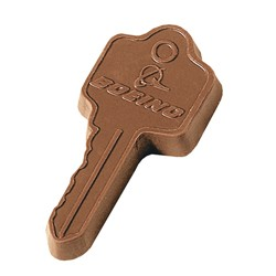 1 oz. Custom Chocolate Key Cutout - Click Image to Close
