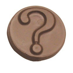 Chocolate Question Mark Round