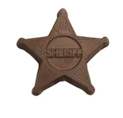 Chocolate Sheriff Badge