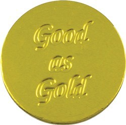 Good as Gold Chocolate Coin - Click Image to Close