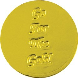 Go For the Gold Chocolate Coin