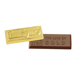 4 oz Custom Chocolate Gold Bar Award