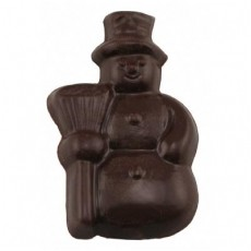 Chocolate Snowman Fat with Broom