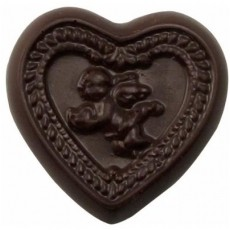 Chocolate Heart with Cupid - Click Image to Close