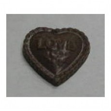 "Chocolate Heart Medium ""Love"" - Click Image to Close"